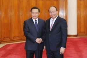 Thủ tướng Nguyễn Xuân Phúc tiếp Chủ tịch Ủy ban T.Ư Mặt trận Lào xây dựng đất nước