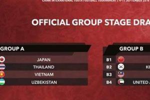 Việt Nam cùng bảng với Nhật Bản, Thái Lan và Uzbekistan tại giải quốc tế