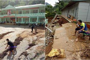 Những hình ảnh thương trào nước mắt ở vũng rốn lũ: Trường học ngập bùn đất, không kịp khai giảng ngày 5/9