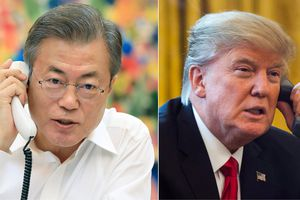 Tổng thống Trump điện đàm với người đồng cấp Hàn Quốc về đối thoại với Triều Tiên
