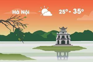 Thời tiết ngày 5/9: Hà Nội nóng 35 độ C