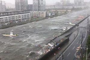 Clip: Siêu bão Jebi tàn phá khiến Nhật Bản 'thất thủ', gió lốc thổi ngã cụ già
