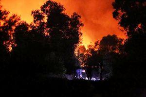 Quảng Bình: Hàng trăm chiến sĩ dập lửa trong đêm
