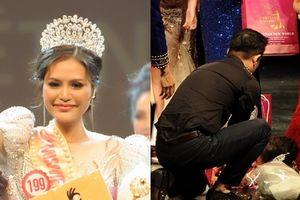 Người đẹp Đồng Nai ngất xỉu khi đăng quang 'Hoa hậu Việt Nam Thế giới 2018'