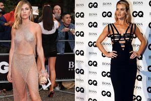 Vợ siêu mẫu của Peter Crouch mặc váy mỏng trên thảm đỏ GQ