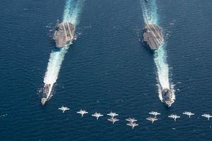 Khoe sức mạnh tàu sân bay, Mỹ 'bắn' tín hiệu đến Nga, Trung Quốc