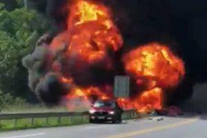 Chưa triệu tập được tài xế xe bồn bốc cháy trên cao tốc
