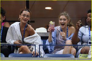 Gigi Hadid và Bella Hadid ăn vận gợi cảm, 'đọ sắc' trên khán đài