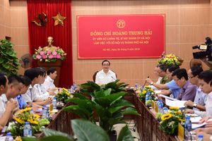 Bí thư Thành ủy Hà Nội Hoàng Trung Hải làm việc với Sở Nội vụ