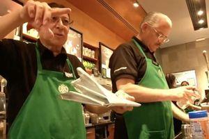 Có một cửa hàng Starbucks xuất hiện nhân viên toàn người cao tuổi