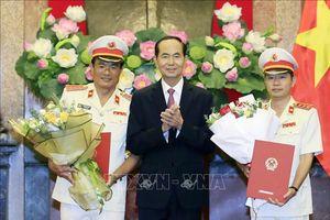 Chủ tịch nước Trần Đại Quang trao quyết định bổ nhiệm nhân sự