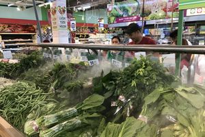 Giá rau xanh hạ nhiệt