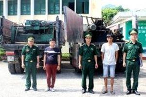 Bắt giữ vụ vận chuyển hai máy băm gỗ nhập lậu