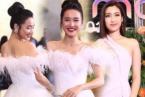 Nhã Phương - Hoa hậu Đỗ Mỹ Linh cùng diện đầm khoe vai trần gợi cảm tại VTV Awards 2018