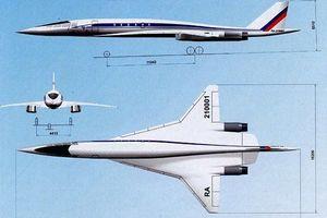 Hé lộ chi tiết về máy bay chở khách siêu thanh của Nga