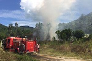 Khống chế nhanh đám cháy ở bìa rừng bán đảo Sơn Trà