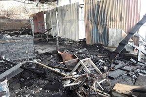 Cháy nhà xưởng thiêu rụi 4 xe máy ở Quảng Ninh