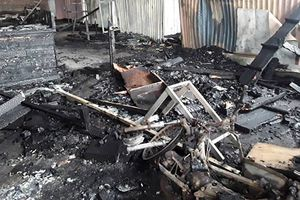 Xưởng gỗ bốc cháy do chập điện, thiệt hại hàng trăm triệu đồng