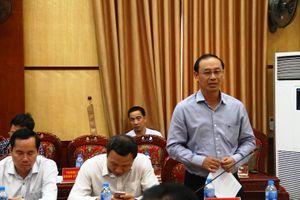 Bộ trưởng Bộ Giao thông - Vận tải Nguyễn Văn Thể làm việc với tỉnh Thanh Hóa