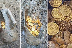 Tìm thấy hàng trăm đồng tiền vàng La Mã
