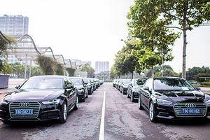 Dàn xe sang Audi tiền tỷ phục vụ WEF tại Hà Nội