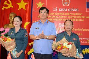 Khai giảng Lớp Bồi dưỡng nghiệp vụ cho cán bộ, Kiểm sát viên Viện KSND nước bạn Lào