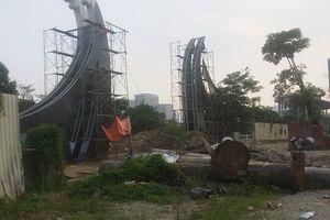 Công viên Nhân Chính vẫn mở cửa dù 'ngổn ngang' hạng mục chưa hoàn thiện