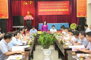 Phó Bí thư Thường trực Thành ủy kiểm tra Chương trình 02-CTr/TU tại huyện Sóc Sơn