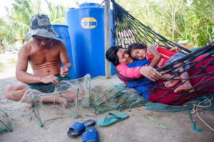 Hai ngôi nhà của người Việt ở cực nam biên giới trên bộ với Campuchia