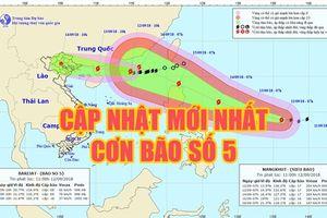 Cập nhật mới nhất bão số 5 Barijat ngày 12.9: Xuất hiện mưa bão, biển động mạnh