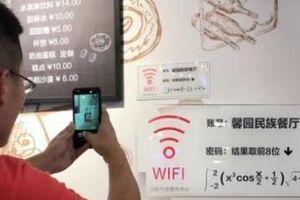 Giải phương trình toán học để lấy mật khẩu Wi-Fi ở Trung Quốc