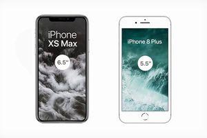 Sở hữu màn hình lớn chưa từng có trong lịch sử Apple, iPhone Xs Max sẽ to tới mức nào?