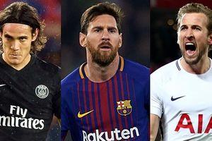 Cập nhật cuộc đua 'Chiếc giày vàng' châu Âu: Messi kém ngôi đầu 6 điểm