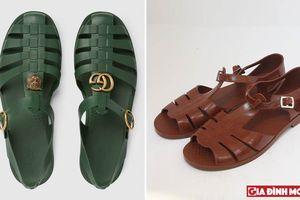 Sandal Gucci hơn 11 triệu đồng có thiết kế 'na ná' dép rọ Việt Nam