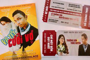 Thiệp cưới độc lạ như poster và vé mời xem phim