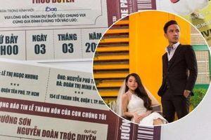 Lấy cảm hứng từ vé xem phim chàng trai tạo ra thiệp cưới độc đáo