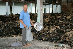 Kho sầu riêng bị hỏa hoạn thiệt hại tiền tỷ, sau 3 tháng chưa giải quyết hiện trường