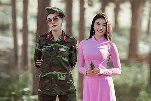 'Bông hồng thép' Giao Linh ngày càng đẹp sau một năm nhập ngũ