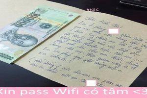 Xin pass wifi cực có tâm, cô gái được dân mạng khen ngợi hết lời