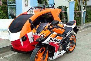 Honda CBR150 Repsol độ phong cách Sidecar 3 bánh cực dị