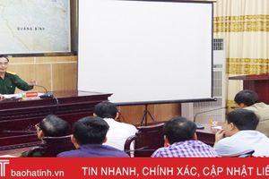 Xây dựng hầm hào, công sự trận địa phục vụ Diễn tập KVPT tỉnh Hà Tĩnh