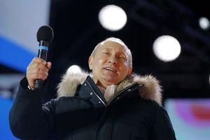 Ông Putin giành 76% số phiếu bầu, chắc chắn tái cử Tổng thống