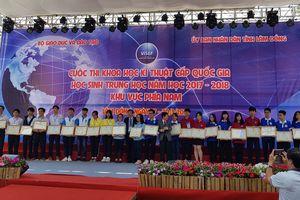 TP.HCM đạt 4 giải nhất cuộc thi Nghiên cứu khoa học kỹ thuật cấp quốc gia