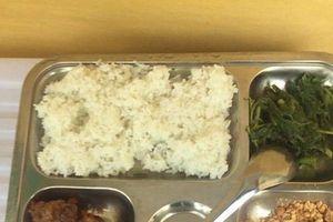 Phụ huynh tố bữa trưa 15.000 đồng của học sinh chỉ có 2 viên chả cùng ít muối vừng