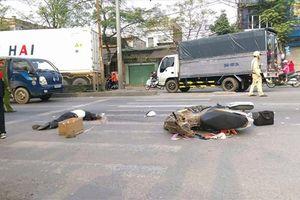Hải Phòng: Va chạm với xe container khi sang đường, một người đàn ông chết thảm
