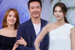 Han Hye Jin và Yoo In Young khoe sắc bên Yoon Sang Hyun tại họp báo 'Let's Watch The Sunset'
