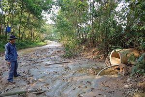 Bắt quả tang Doanh nghiệp lén lút chế biến quặng thải ở Bồng Miêu
