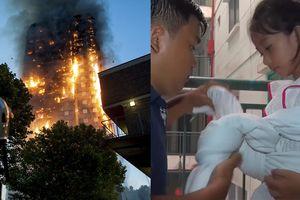 Cách buộc dây, thả trẻ tiếp đất an toàn khi có hỏa hoạn xảy ra ở chung cư cao tầng