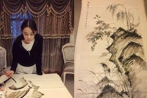 Mỹ nhân thị phi nhất showbiz Hoa ngữ, 'Lý Mạc Sầu' Trương Hinh Dư không ngờ vẽ tranh lại mê hồn đến thế!