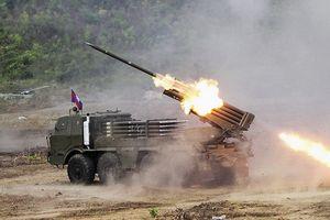 Bất ngờ trước tính năng đặc biệt của pháo phản lực RM-70 Campuchia